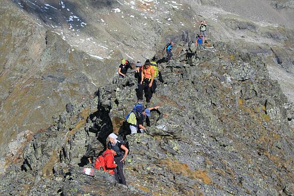 Am Hochgolling Nordwestgrat (2.862 m, II) -