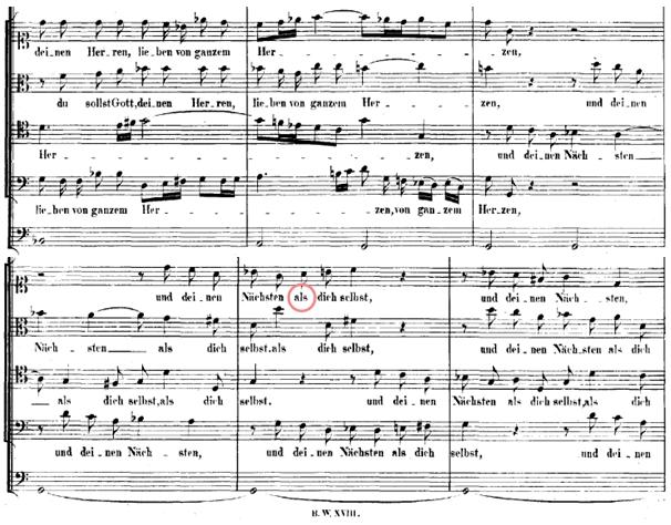 """Bach-Werke-Verzeichnis 77: """"Du sollt Gott, deinen Herren, lieben von ganzem Herzen, von ganzer Seele, von allen Kräften und von ganzem Gemüte und deinen Nächsten ALS dich selbst. """""""