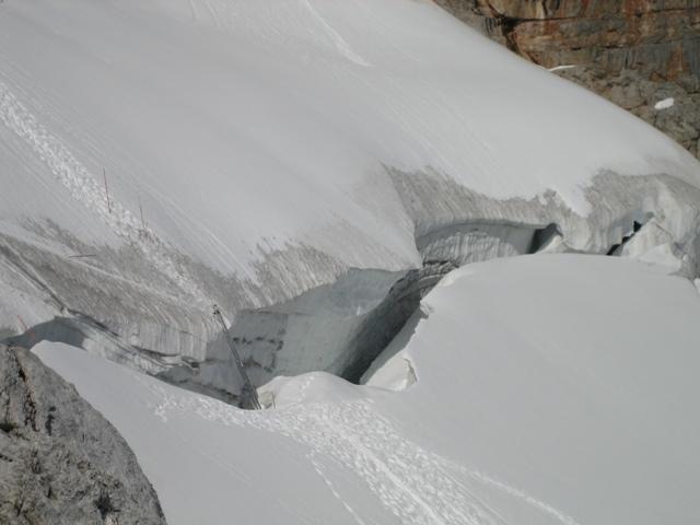 Bergschrund am Dachstein