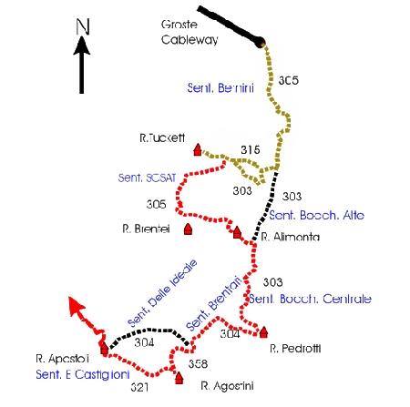 Bocchetteweg - Sentiero delle Bocchette