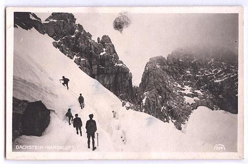Dachstein Randkluftanstieg im Jahre 1926