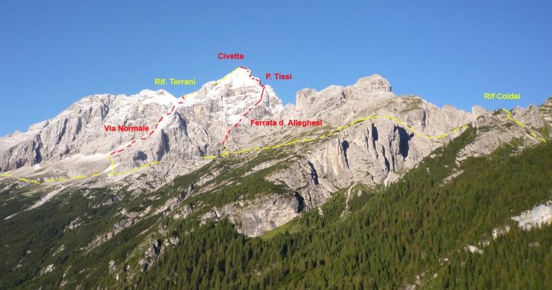 Klettersteige - Ampezzaner Dolomiten - Via Ferrata degli Alleghesi auf die Civetta