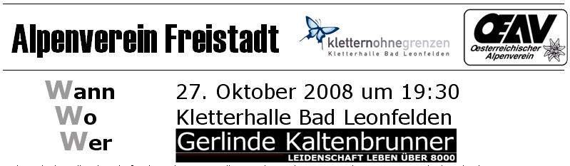 """Einladung - Multimediashow """"Leidenschaft Leben über 8000 m"""" & Runder Tisch mit Extrembergsteigerin Gerlinde Kaltenbrunner"""