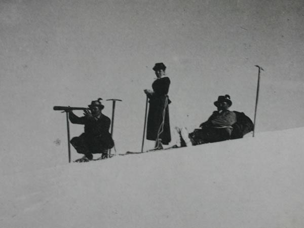 Historische Aufnahme bei der Brancahütte