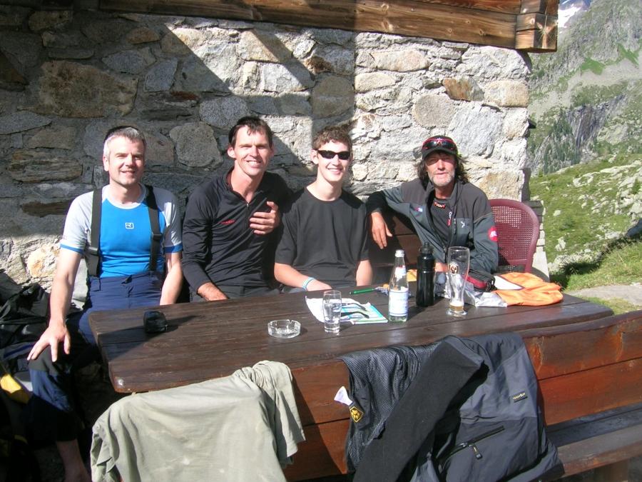 Mit Extrembergsteiger Hans Kammerlander auf der Südtiroler Kasseler Hütte