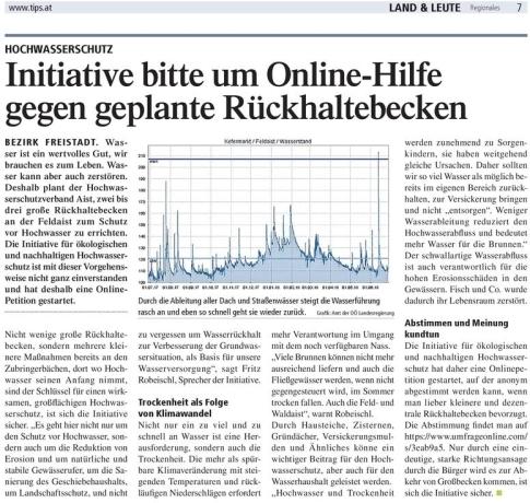 Onlineabstimmung Hochwasserschutz Aist