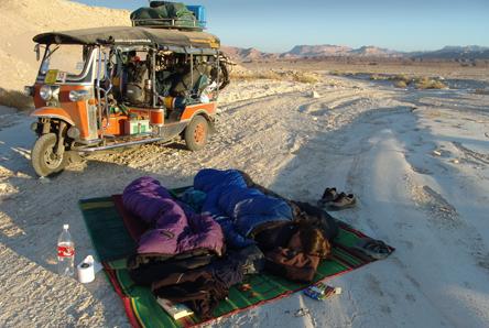 In Afrika stellen wir uns Zelt kaum noch auf...