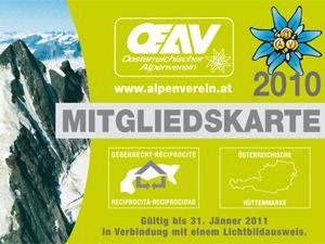 Alpenverein - Mitgliedskarte 2010