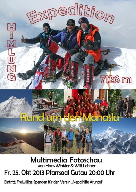 Vortrag & Multimedia Fotoschau - Himlung (7.162m) & Rund um Manaslu