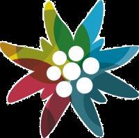 Alpenvereinslogo - Jubiläums-Edelweiß 2012