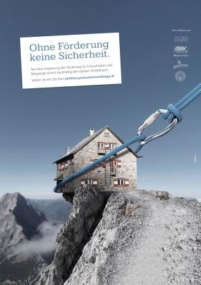 Hilfe für Schutzhütten und Bergwege