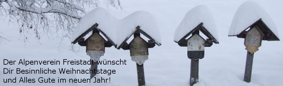 Wegkreuze in Osttirol (Foto: http://www.apartments-brigitte.at) - Der Alpenverein Freistadt wünscht Dir besinnliche Weihnachtstage und Alles Gute mit viel Bewegung im Neuen Jahr!