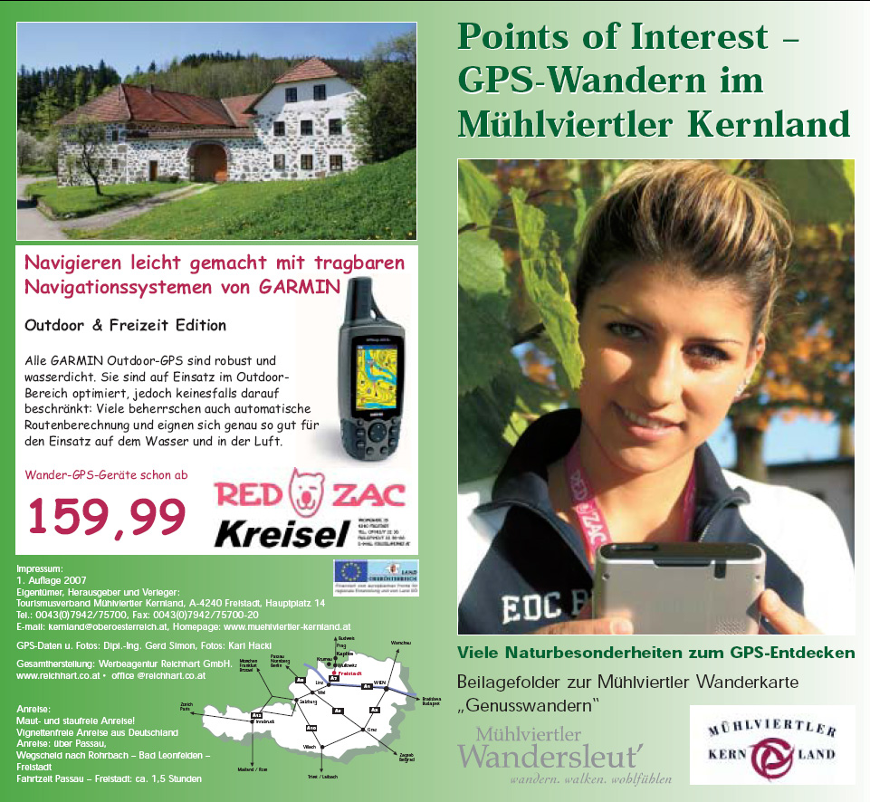 Prospekt - Points of Interest - GPS-Wandern im Mühlviertler Kernland