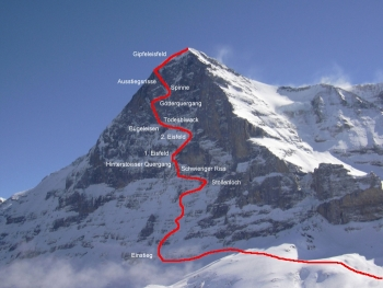 Route Eiger Nordwand