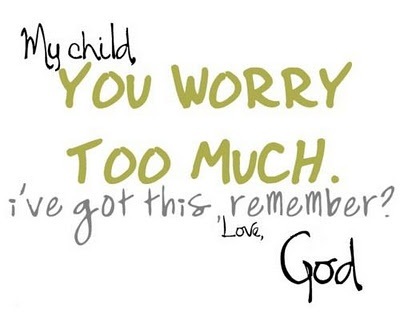 """My child, you worry too much. I've got this, remember? Love, God"" Foto: www.confusedforever.com"